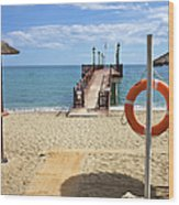 Marbella Beach In Spain Wood Print