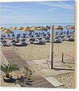 Marbella Holiday Beach Wood Print