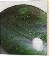 Marble Green Onion Skin 3 Wood Print