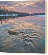 Marble Sky Wood Print