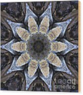 Marbled Mandala - Abstract Art Wood Print