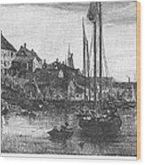 Marblehead: Fishing Boats Wood Print