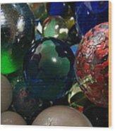 Marbles Around The World Wood Print