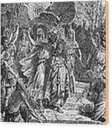 Marc Antony & Cleopatra Wood Print by Granger