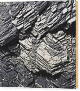 Marcasite Mineral Wood Print by Dirk Wiersma