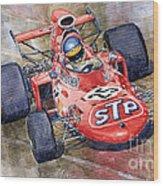March 711 Ford Ronnie Peterson Gp Italia 1971 Wood Print by Yuriy  Shevchuk