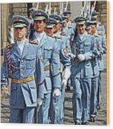 Marching Guards Wood Print