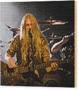Marco Hietala And Jukka Nevalainen - Nightwish  Wood Print