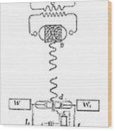 Marconi Radio Circuits, 19th Century Wood Print