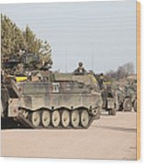 Marder Infantry Fighting Vehicles Wood Print