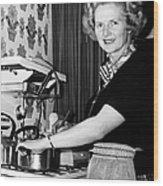 Margaret Thatcher (1925- ) Wood Print
