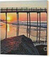 Margate Sunrise Wood Print by John Loreaux