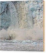 Margerie Glacier Calving Wood Print