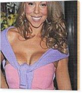 Mariah Carey At A Public Appearance Wood Print