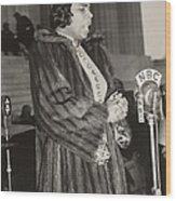 Marian Anderson 1897-1993, At A Nbc Wood Print by Everett