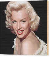 Marilyn Monroe, C. Mid-1950s Wood Print by Everett