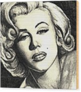Marilyn Monroe Wood Print by Debbie DeWitt