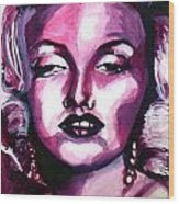 Marilyn Monroe Wood Print by Hannah Chusid