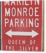 Marilyn Monroe Parking Wood Print