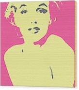 Marilyn Monroe Retro Stamp Wood Print by Barrington Black
