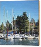 Marina At Cascade Locks Wood Print