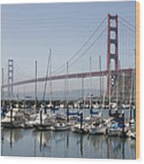 Marina At Golden Gate Wood Print