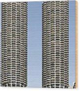 Marina City Chicago - Life In A Corn Cob Wood Print