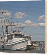 Marina Rockport Texas Wood Print