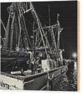 Marina Shipyard Texas Gulf Coast Wood Print