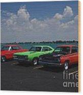 Marine City Car Show Wood Print