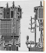 Marine Steam Engine, 1878 Wood Print