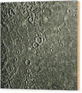 Mariner 10 Mosaic Of Mercury Showing Wood Print