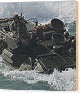 Marines Drive An Amphibious Assault Wood Print