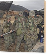 Marines Load A 98-pound High Explosive Wood Print