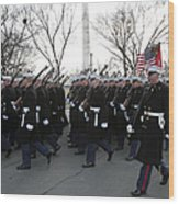 Marines Participate In The 2009 Wood Print