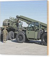 Marines Pick Up Palletized Logistics Wood Print