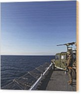 Marines Provide Defense Security Wood Print
