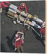 Marines Push Pordnance Into Place Wood Print