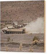 Marines Roll Through The Combat Center Wood Print