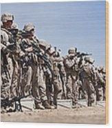 Marines Verify The Battle Sight Zeroes Wood Print