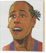 Marion Jones Wood Print