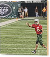 Mark Sanchez Ny Jets Quarterback Wood Print