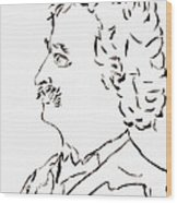 Mark Twain Wood Print by Day Williams