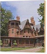 Mark Twain Home Wood Print