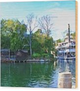 Mark Twain Riverboat At Disneyland Wood Print