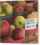Market Apples Wood Print