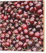 Market Cherries Wood Print
