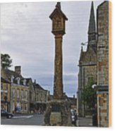 Market Cross - Stow-on-the-wold Wood Print