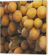 Market Mangoes Wood Print