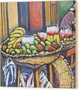 Market Merchant Of Granada Wood Print